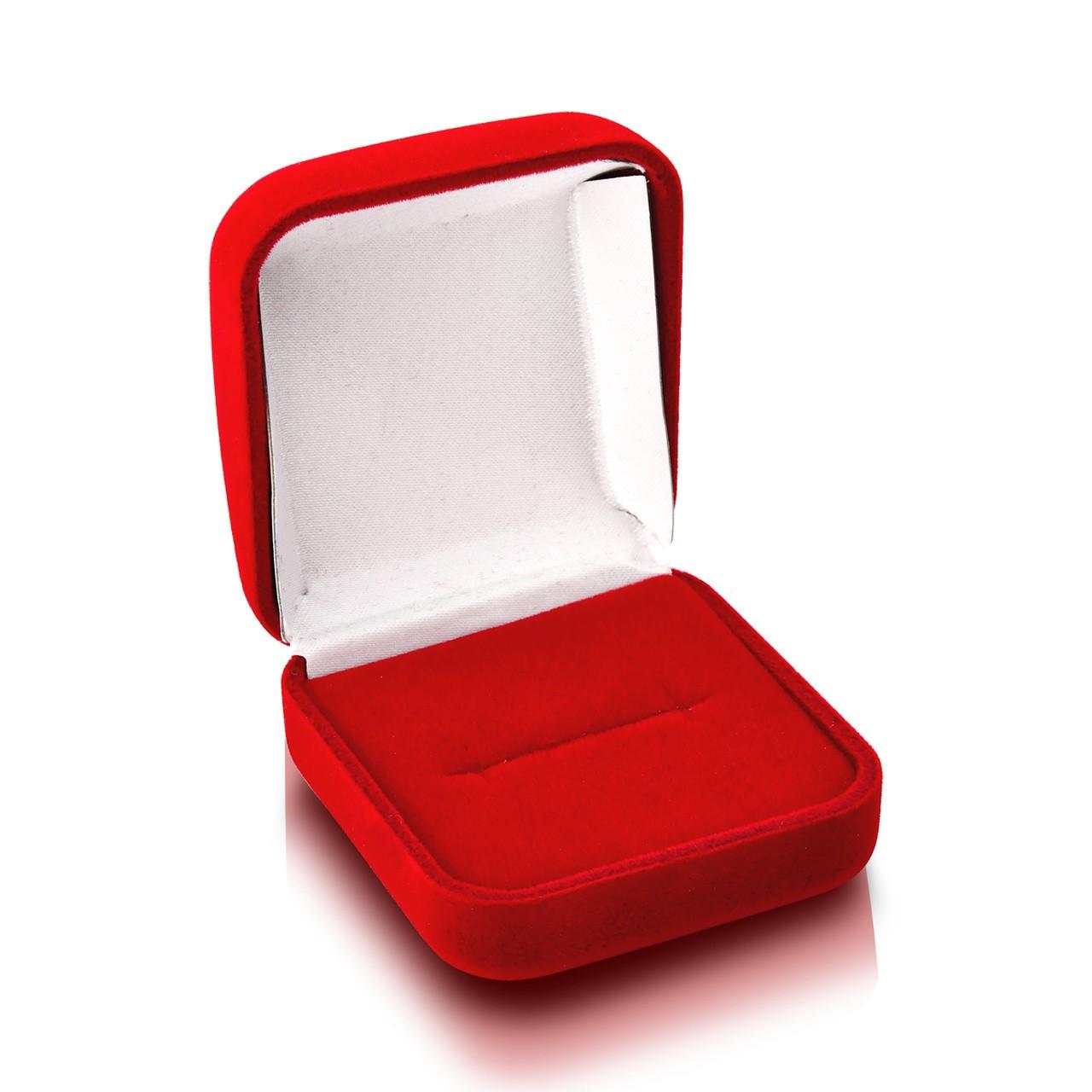 Caixa de Veludo Vermelha Anel 1