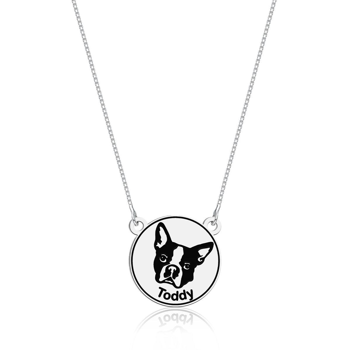 Colar Bulldog Francês Personalizado (Ler Descrição)