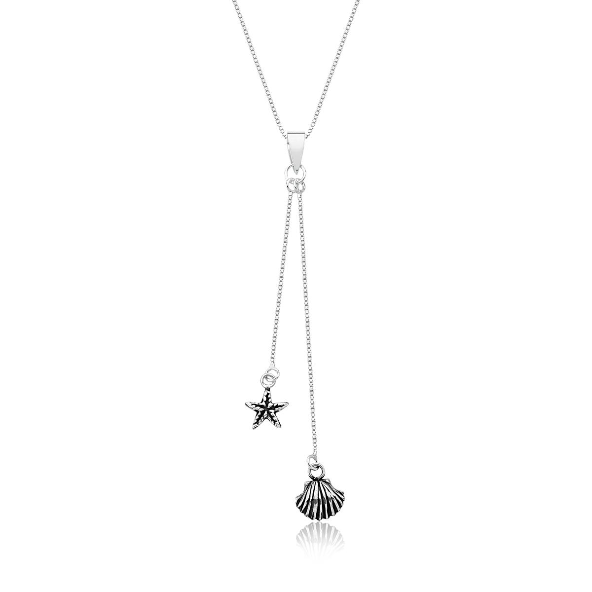 Colar Concha e Estrela do Mar - Sereísmo