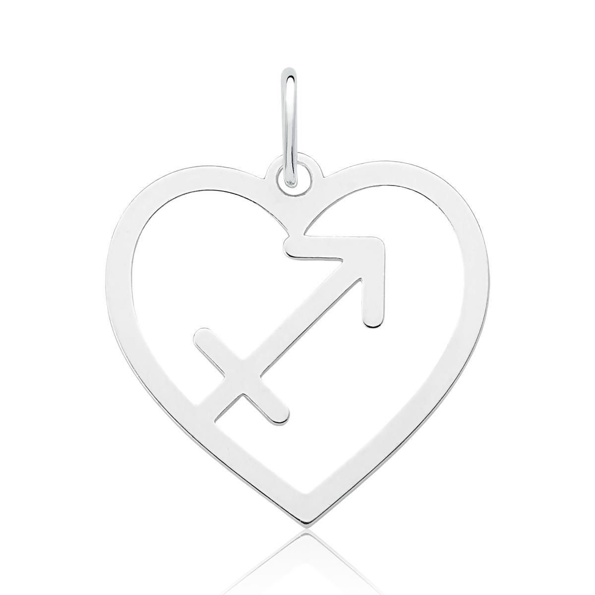Colar Coração Signo de Sagitário