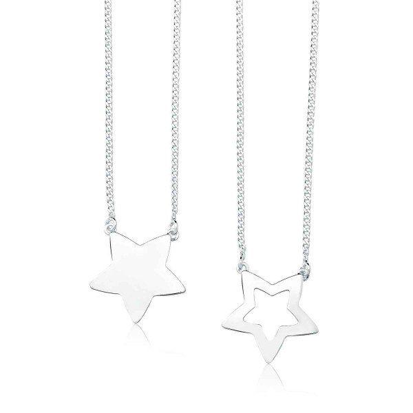 Colar Escapulário Estrelas