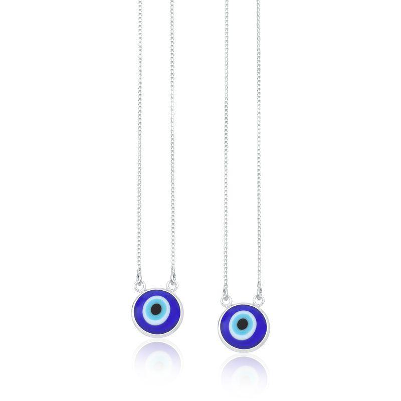 Colar Escapulário Olho Grego Azul