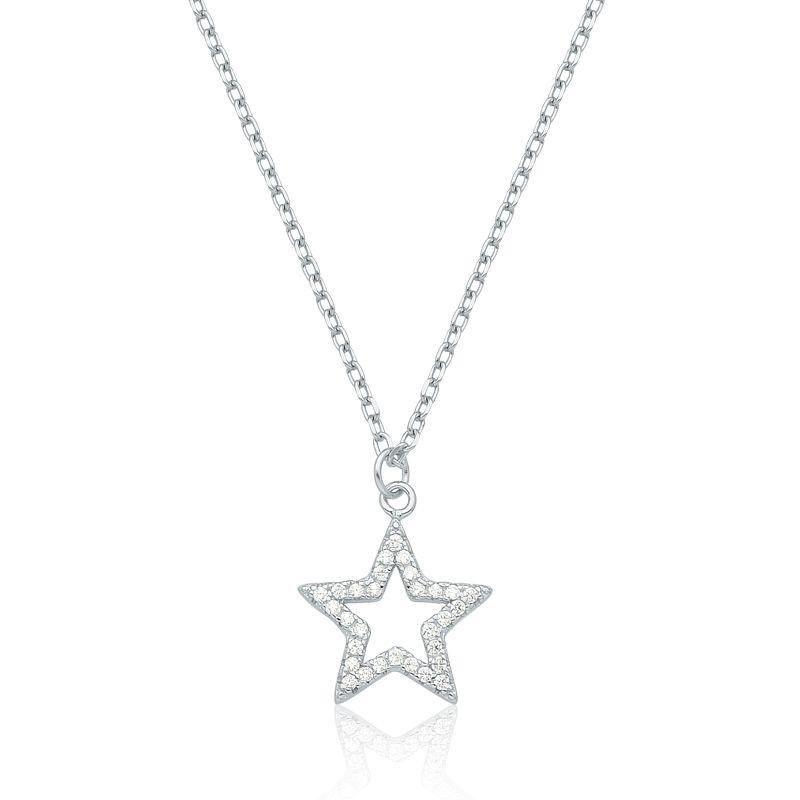 Colar Estrela Brilhante Rodinado