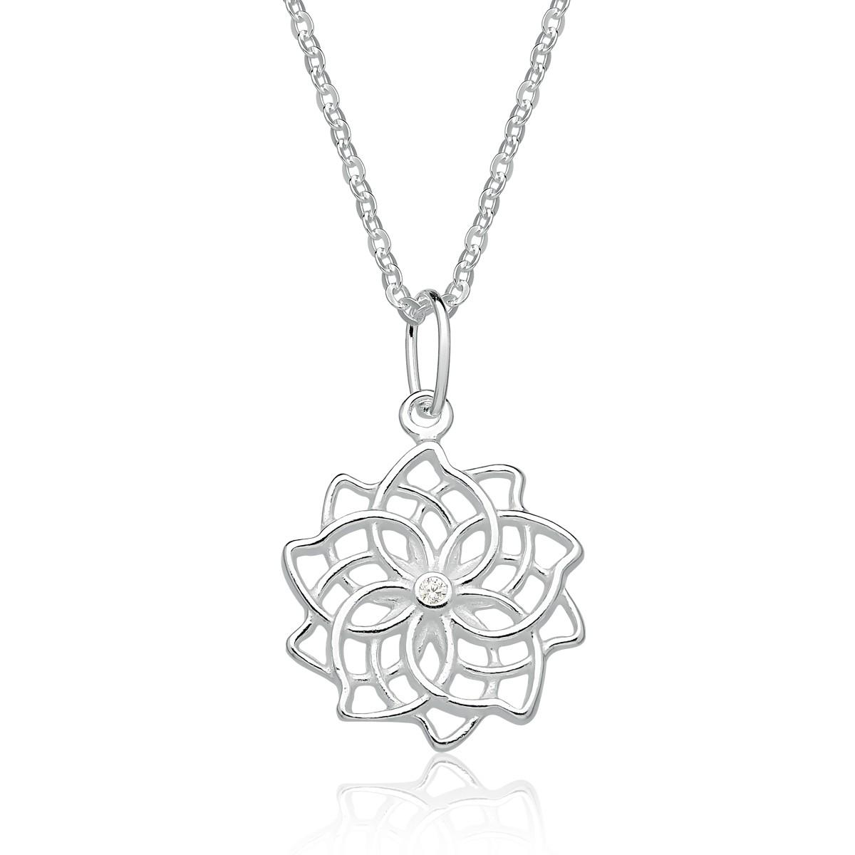 Colar Flor Mandala Ponto de Luz
