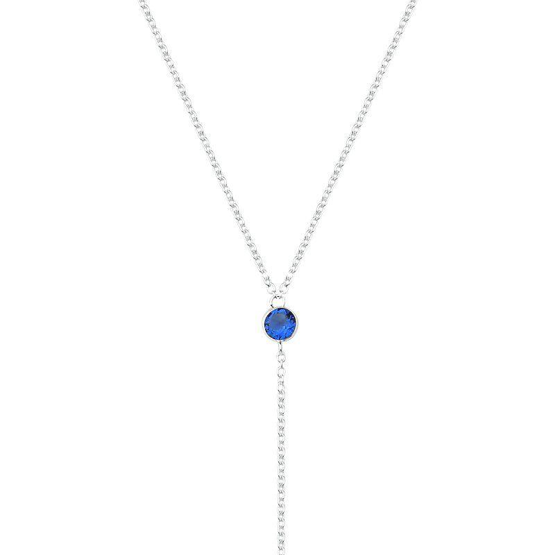 Colar Gravata Pontos de Luz Azul