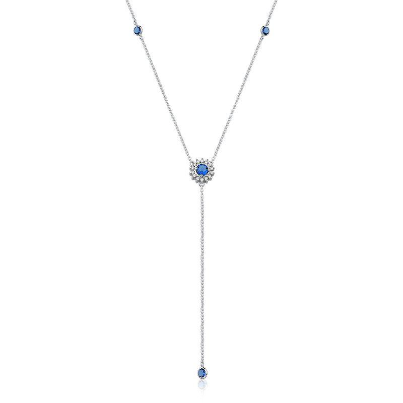 Colar Gravata Round Azul