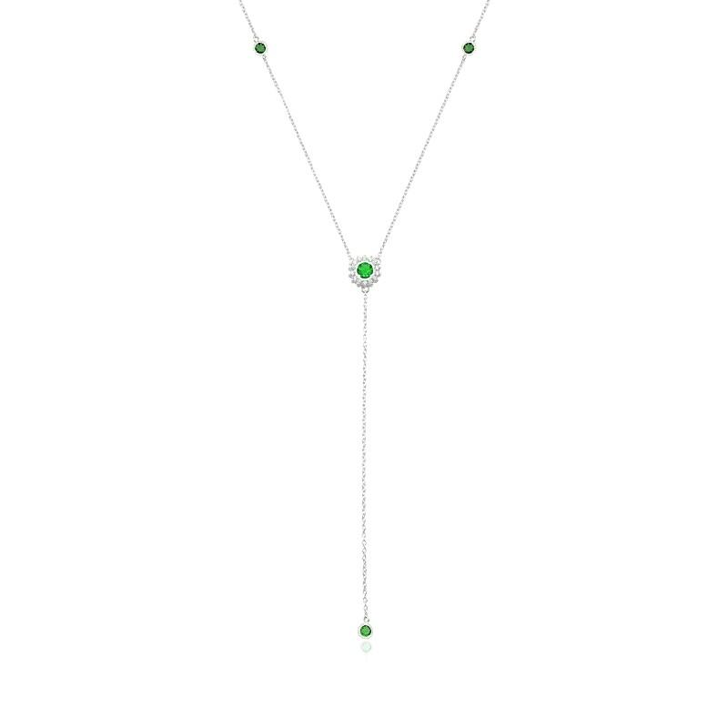 Colar Gravata Round Verde