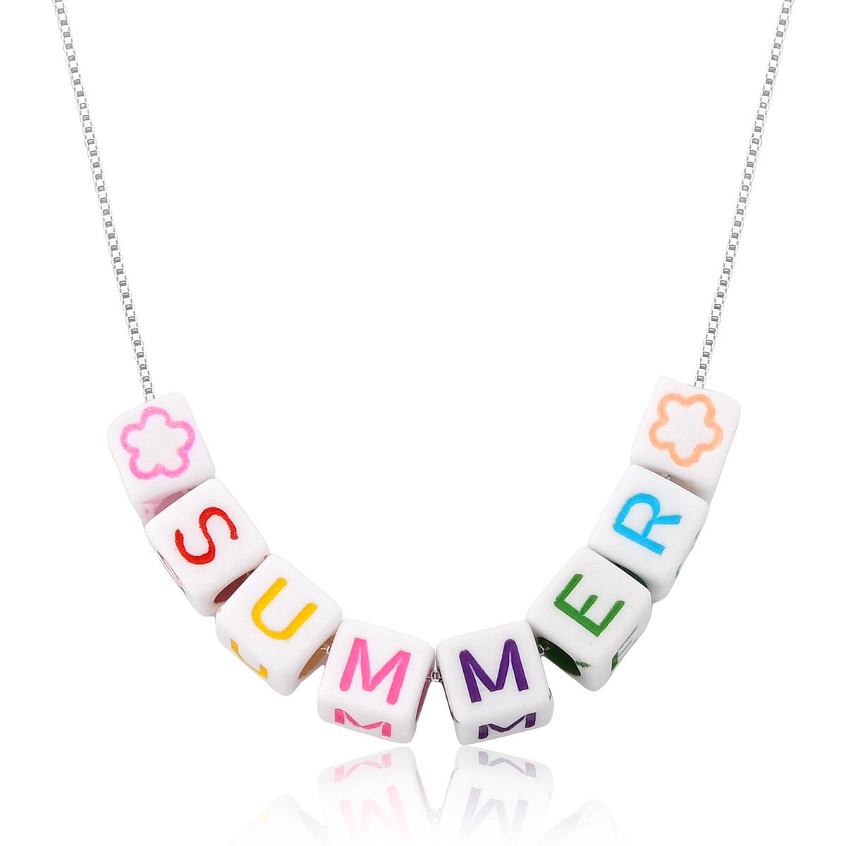 Colar Letrinhas  Summer