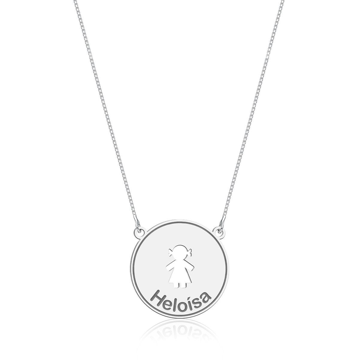 Colar Medalhinha Menina Personalizado (Ler Descrição)