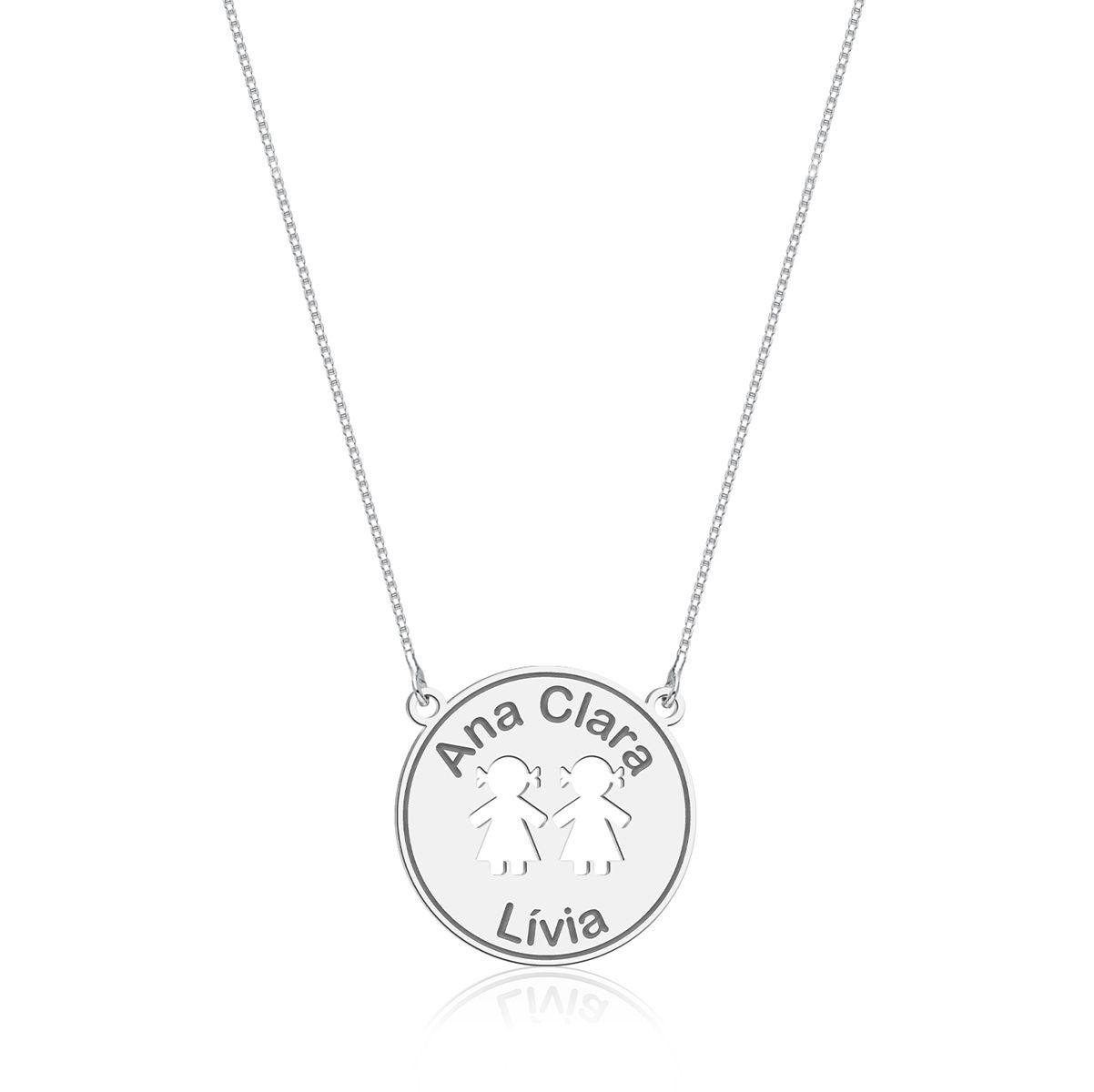 Colar Medalhinha Meninas Personalizado (Ler Descrição)