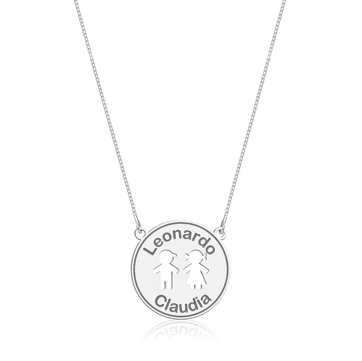 Colar Medalhinha Menino e Menina Personalizado (Ler Descrição)