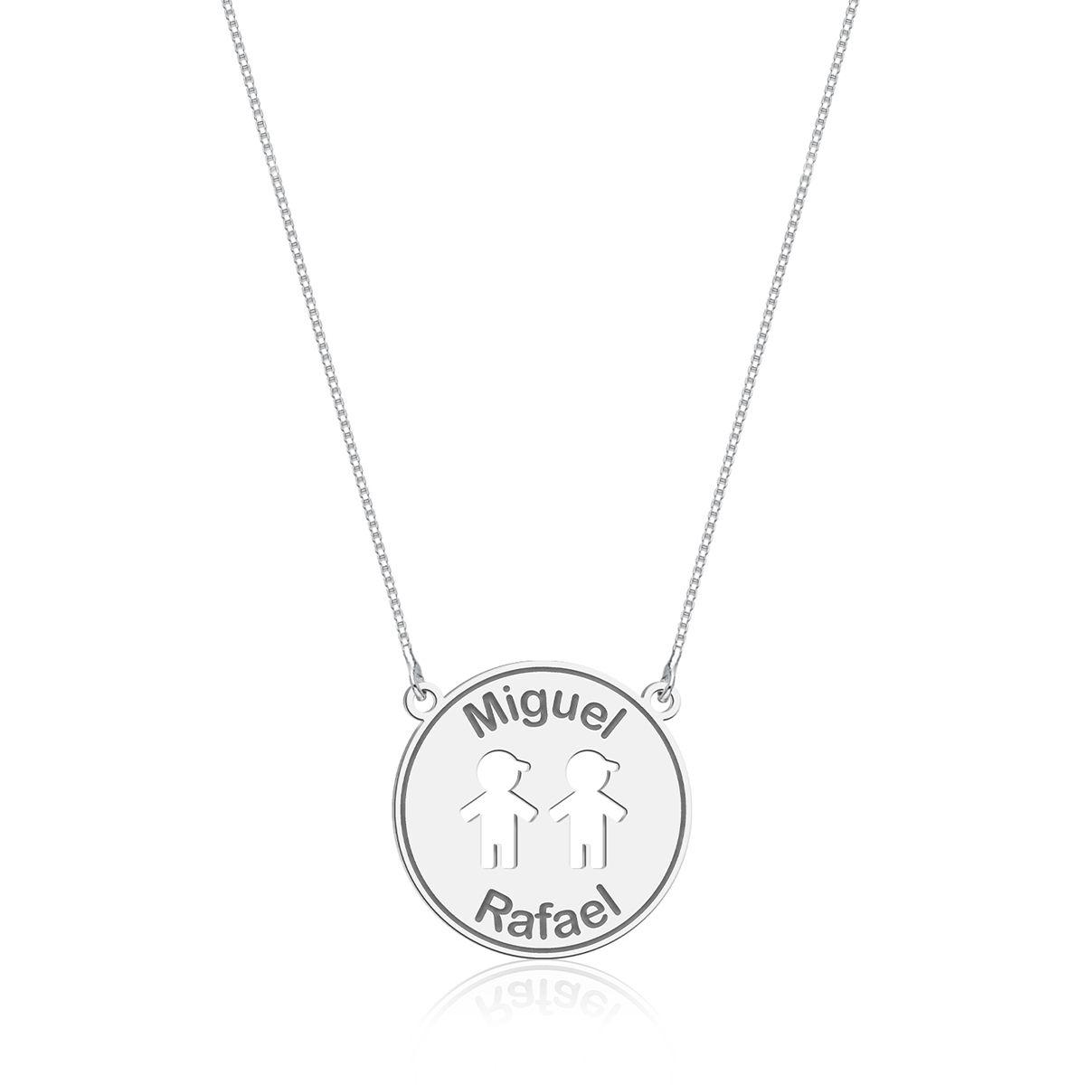 Colar Medalhinha Meninos Personalizado (Ler Descrição)