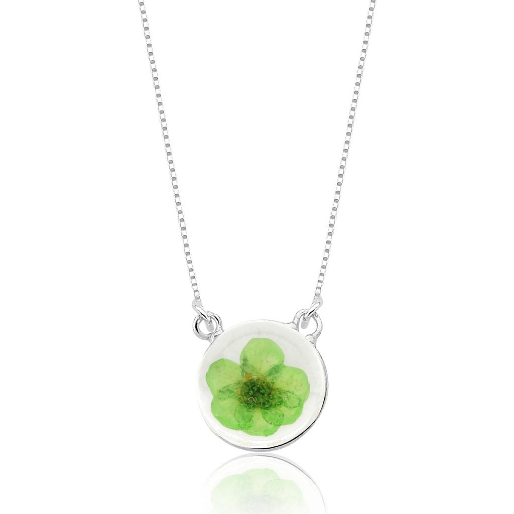 Colar Orgonite Flor Pétalas Verdes 13 MM - Florescer