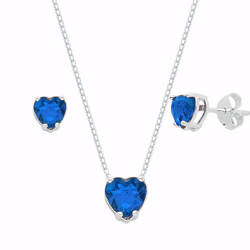 Conjunto Coração Azul