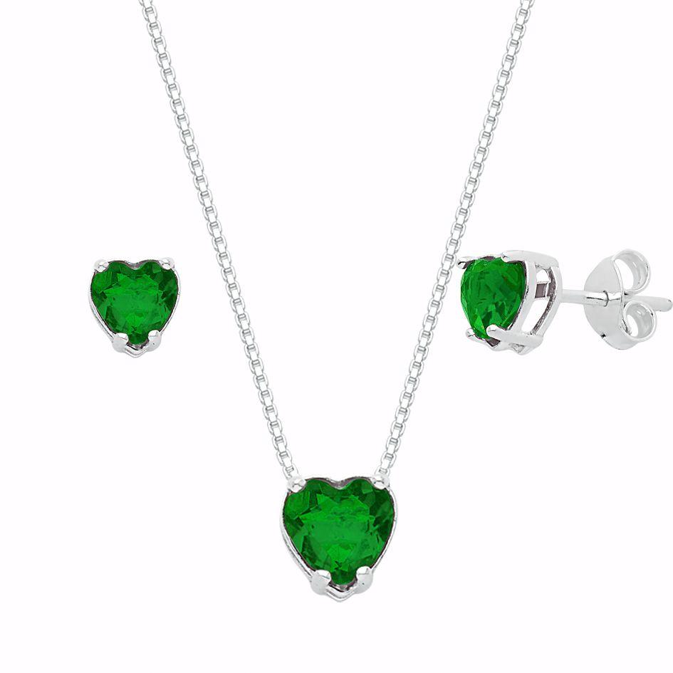 Conjunto Coração Verde