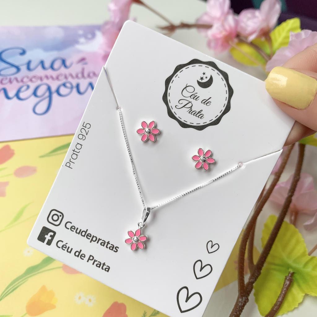 Conjunto Florzinha Rosa - Florescer
