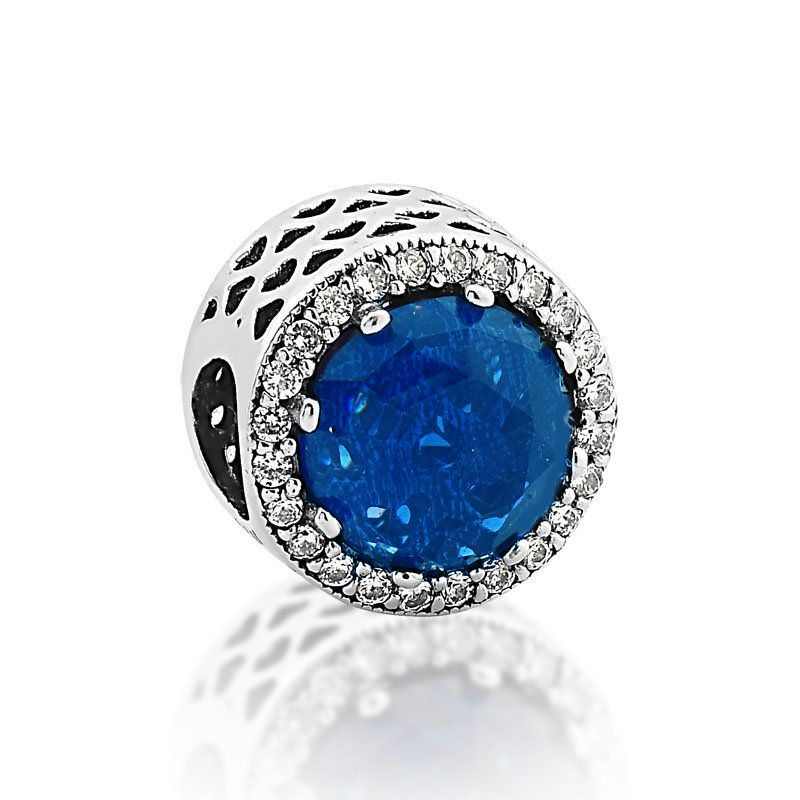 Berloque Radiante Azul Royal Corações