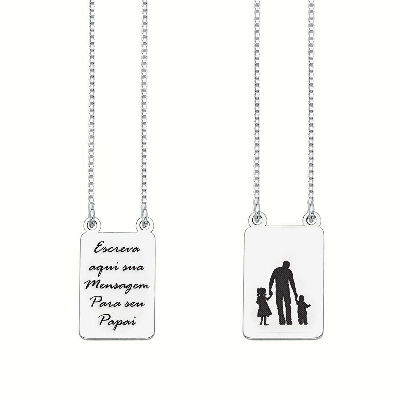 Escapulário Personalizado Pai e Filhos (casal) II
