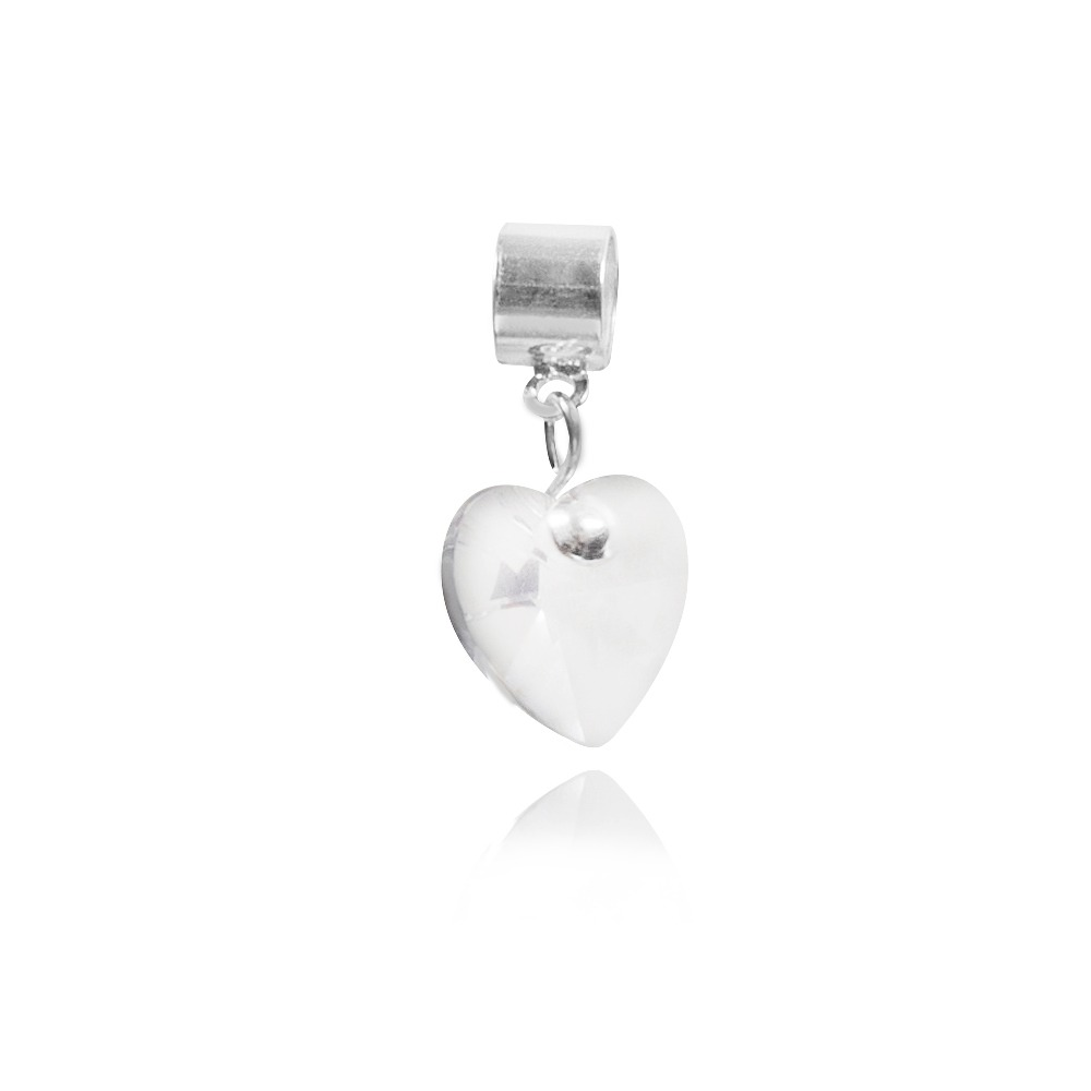 Berloque Coração De Cristal