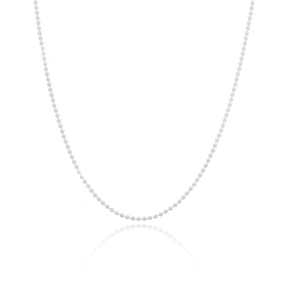 Corrente Feminina Bolinha Diamantada 40 cm