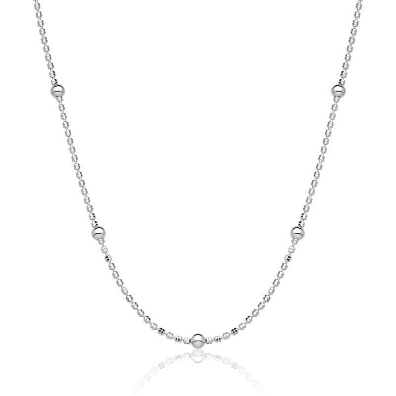 Corrente Feminina Bolinha Diamantada 45 cm