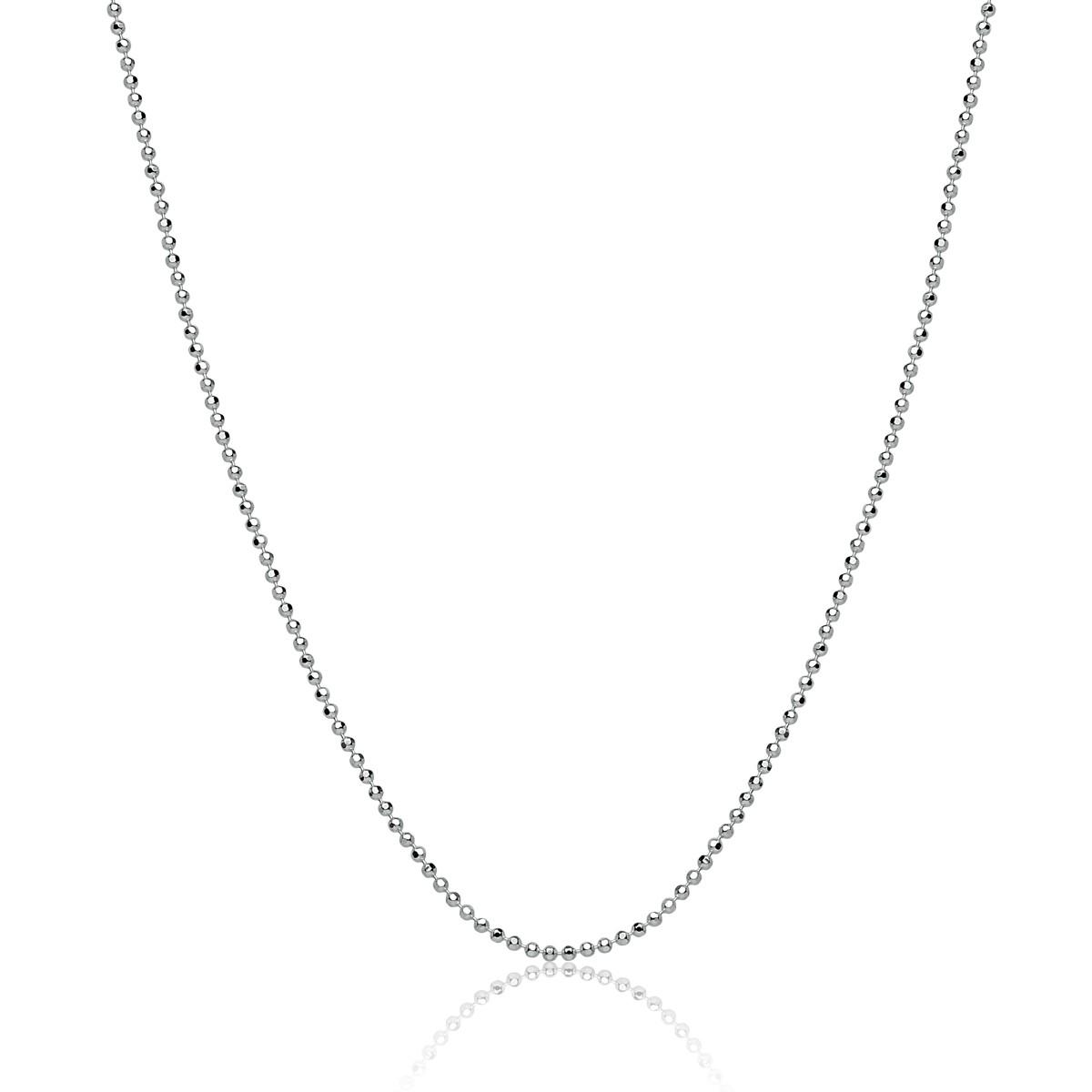 Corrente Feminina Bolinha Diamantada 50 cm