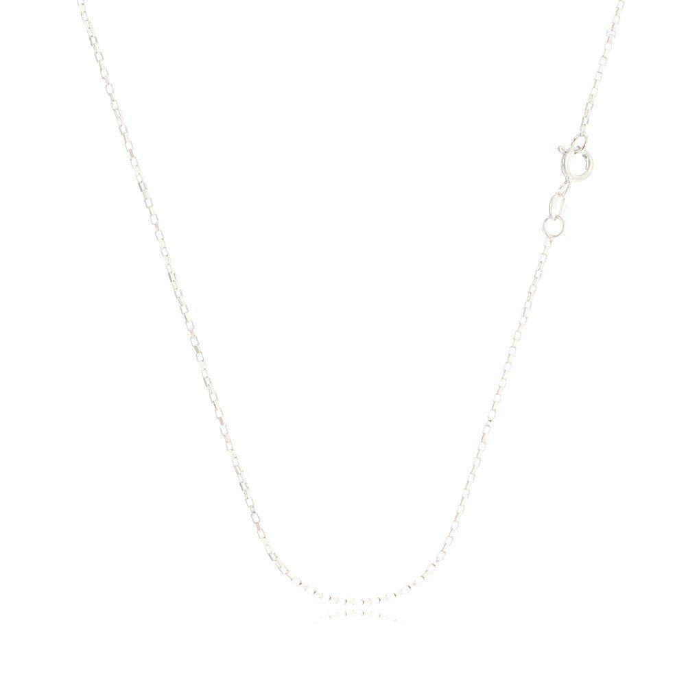 Corrente Feminina Cartier Quadrada 40 cm