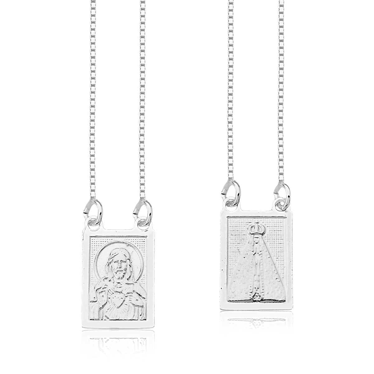 Escapulário Medalha N.S. Aparecida e S.C. Jesus