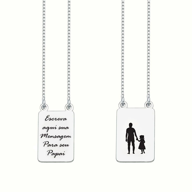 Escapulário Personalizado Pai e Filha