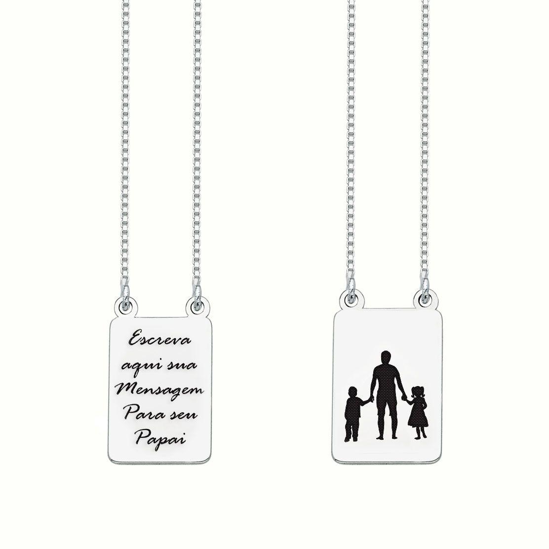 Escapulário Personalizado Pai e Filhos (casal) III
