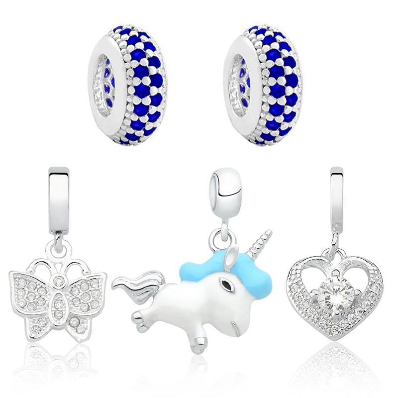 Berloque Kit Borboleta Imaginação Azul