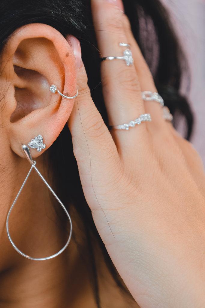 Piercing De Pressão Cartilagem Com Zircônia - Be Free