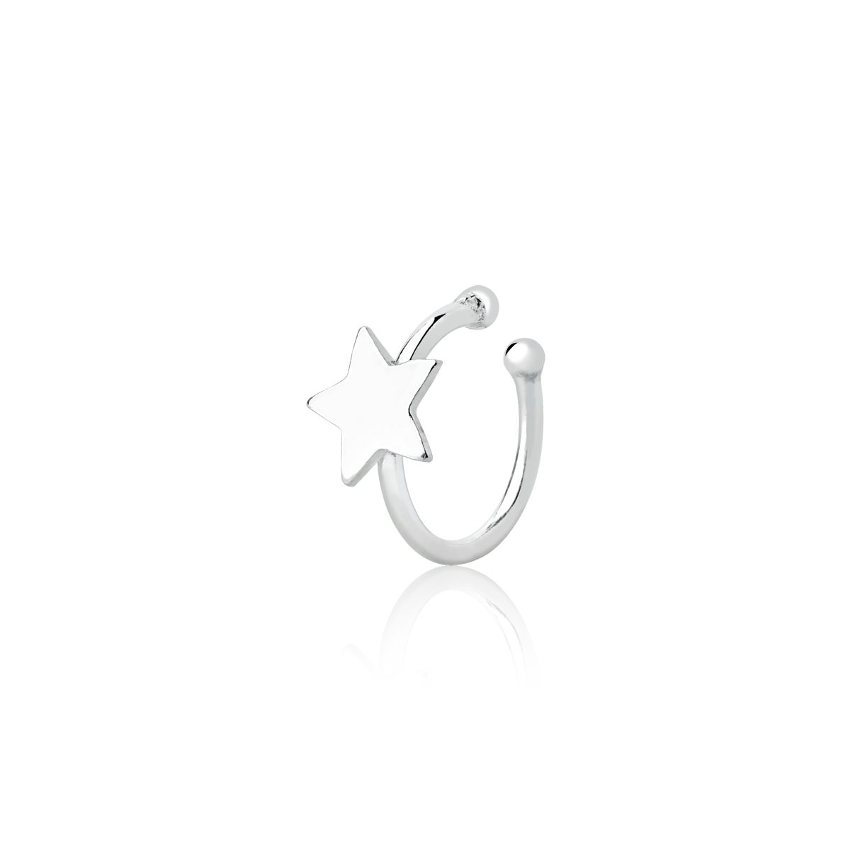 Piercing De Pressão Cartilagem Estrela 10 MM
