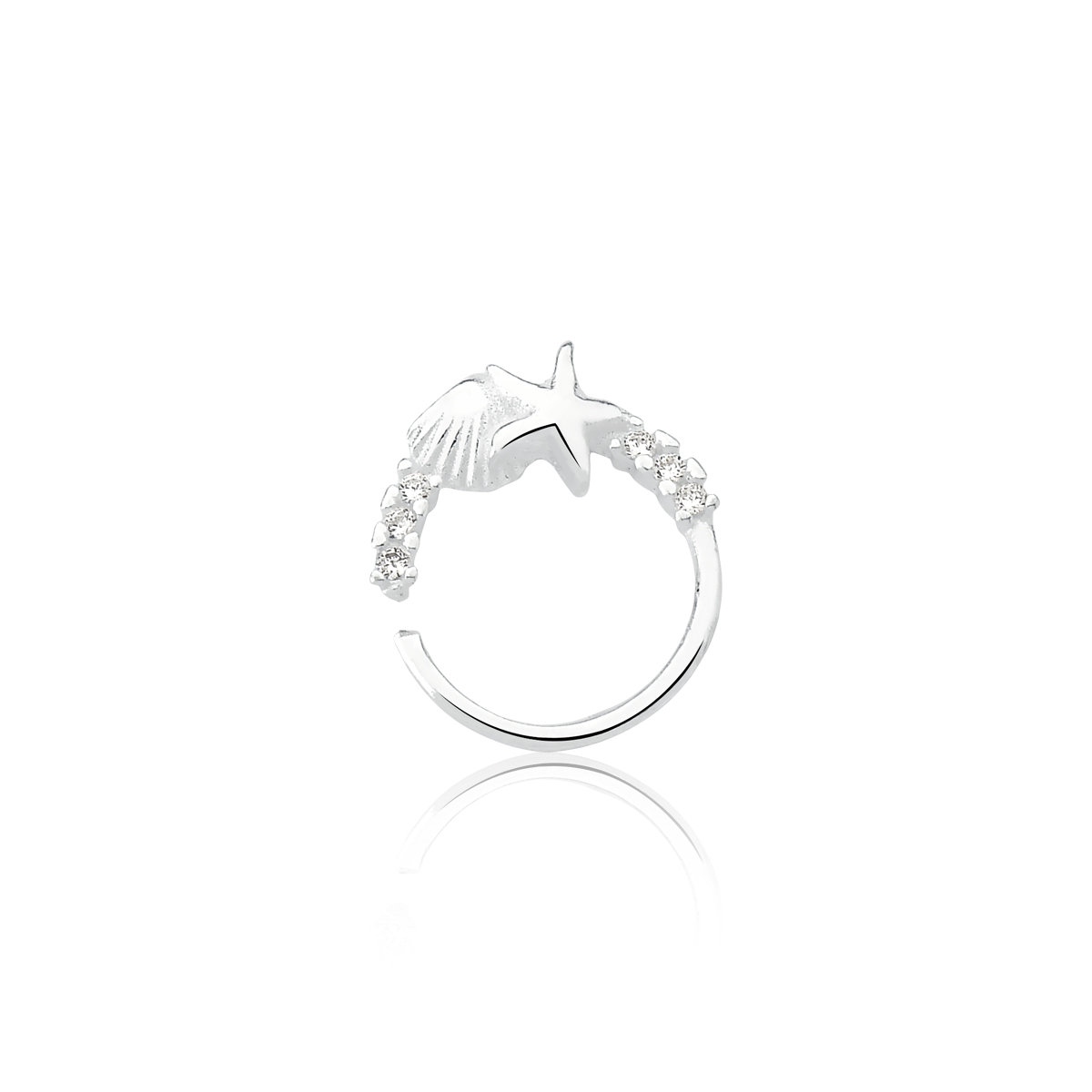 Piercing Estrela Concha Brilhante