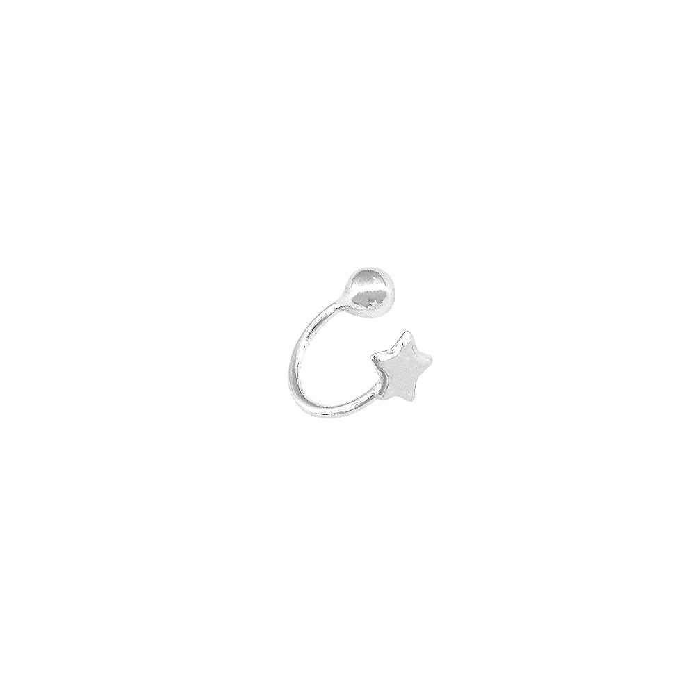 Piercing Estrela e Bolinha 10 MM