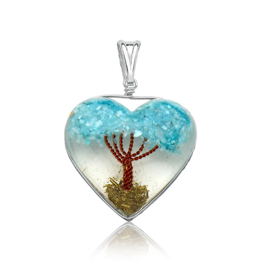 Pingente Árvore da Vida Azul