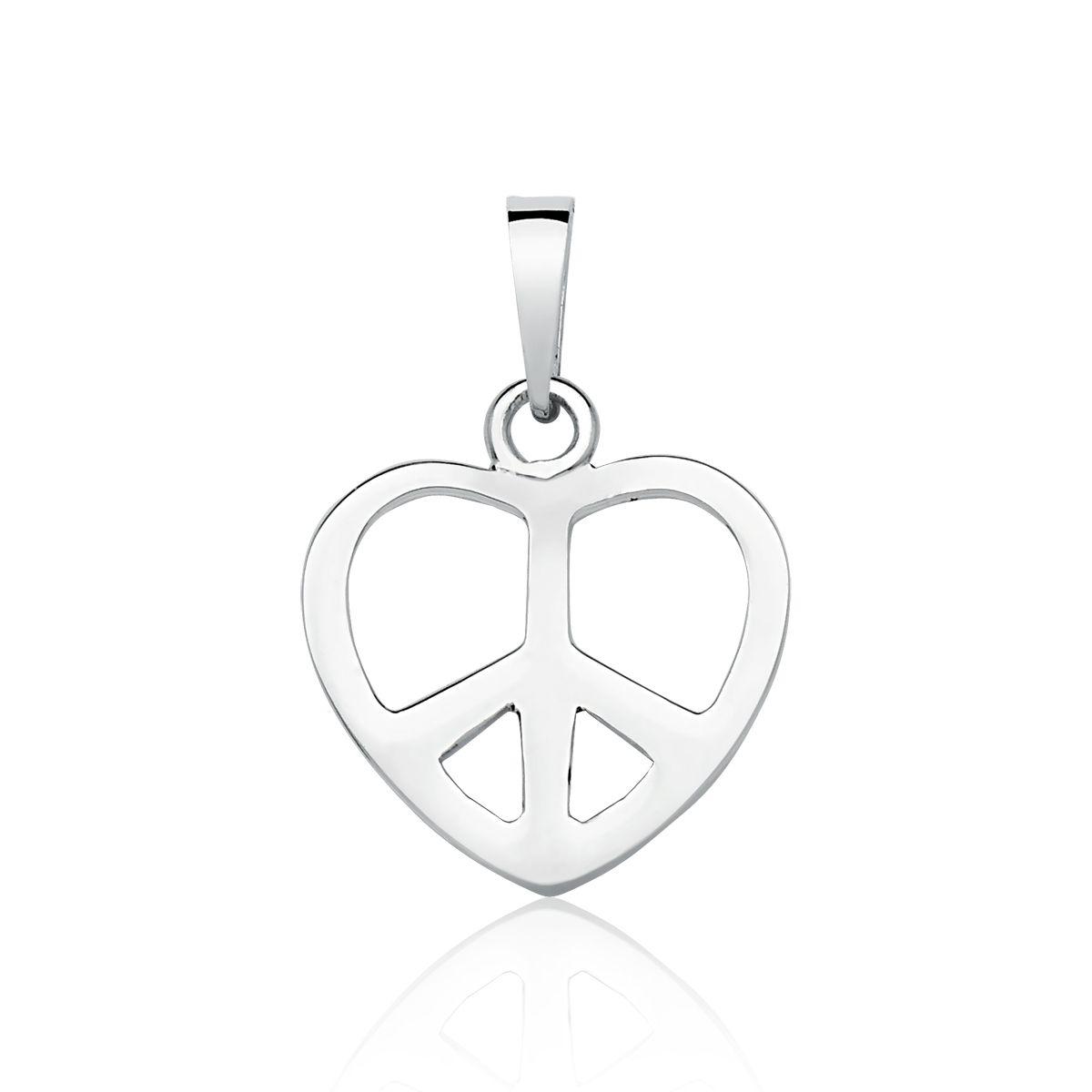Pingente Coração Paz e Amor