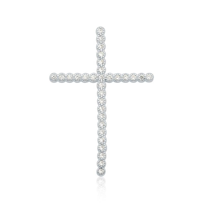 Pingente Crucifixo Cravejado Fino