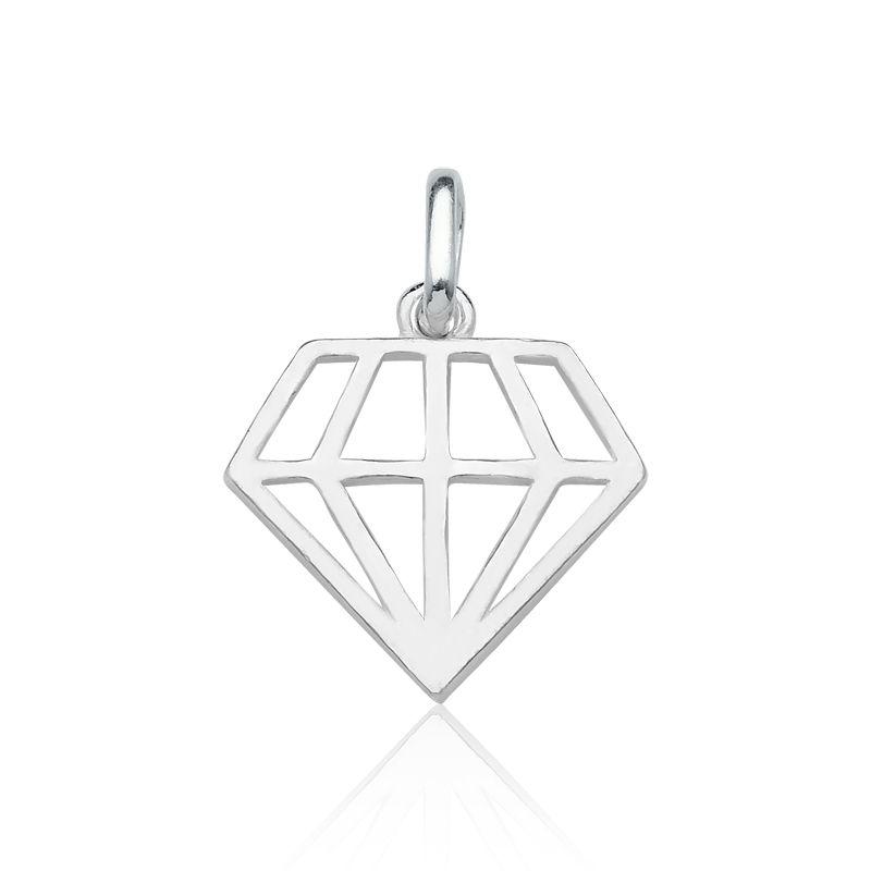 Pingente Diamante Vazado