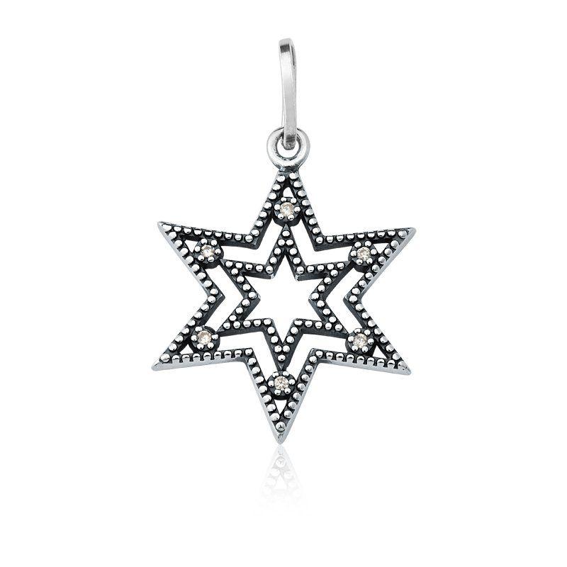 Pingente Estrela Zircônia