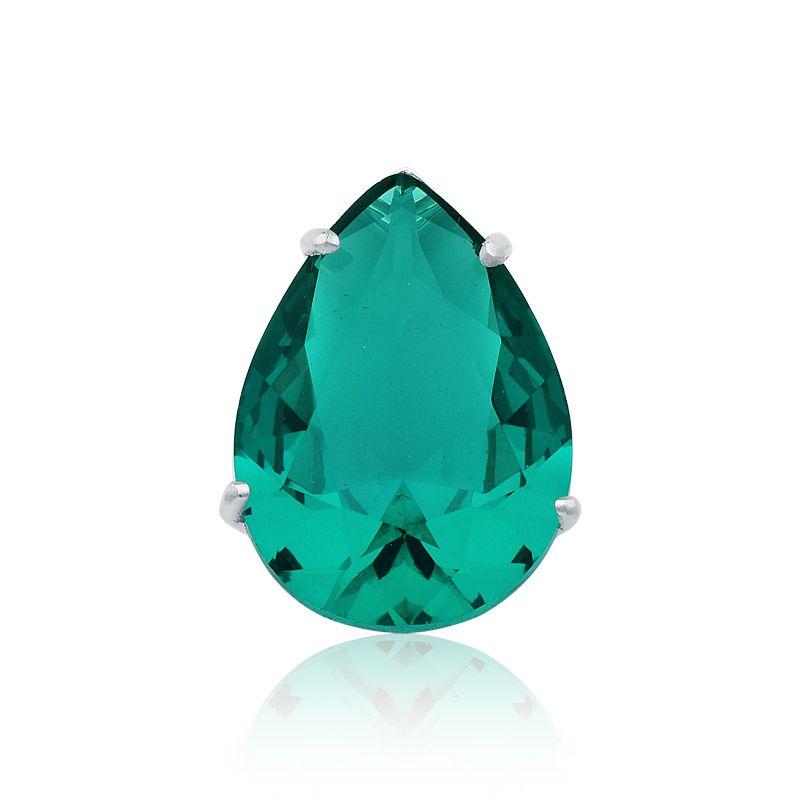 Pingente Gota Cristalina Verde