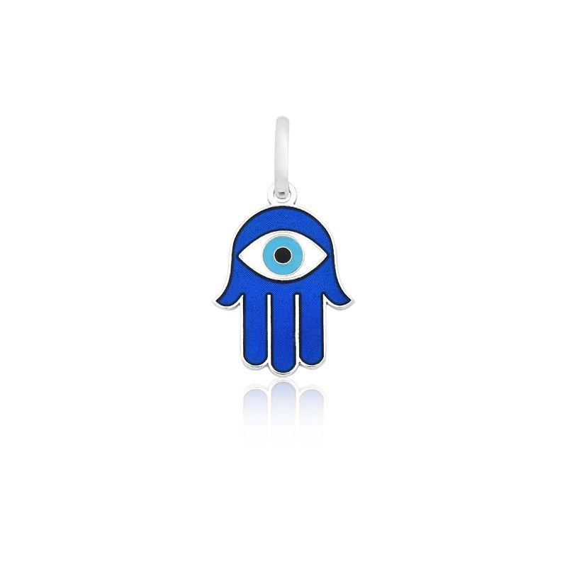 Pingente Mão de Fátima Azul