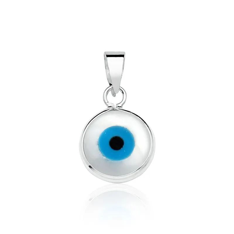 Pingente Olho Grego Perolado 11 MM