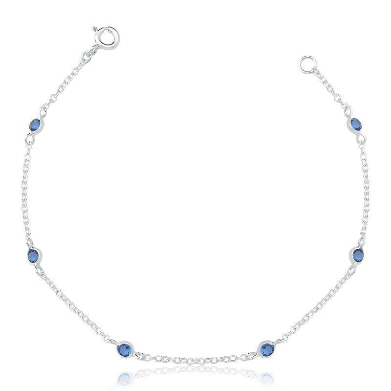 Pulseira 6 Zircônia Azul 3 MM