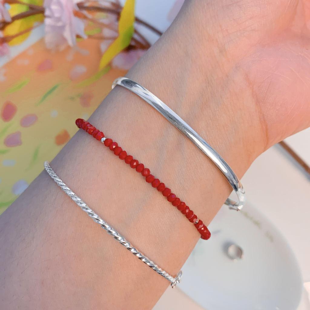 Pulseira Bracelete Rígida Frisada - Florescer