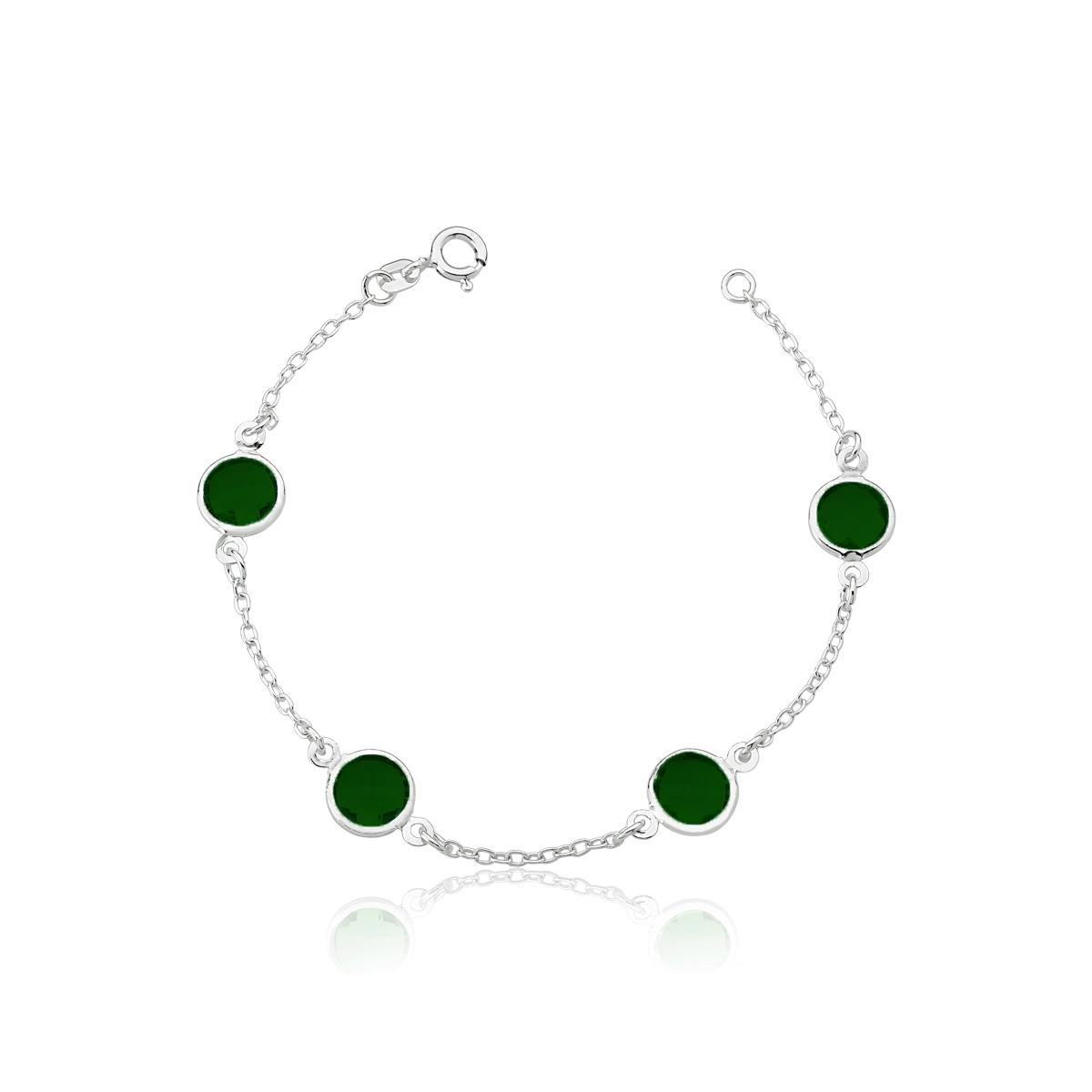 Pulseira Círculos Verdes