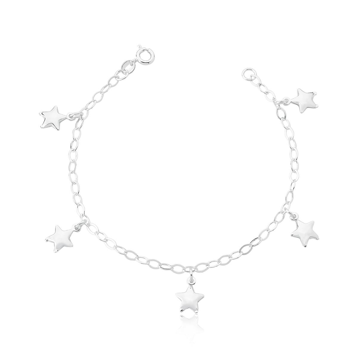 Pulseira com Cinco Estrelas