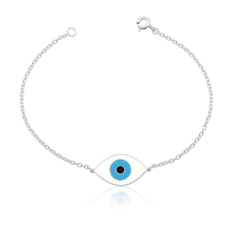 Pulseira Olho Grego Branco