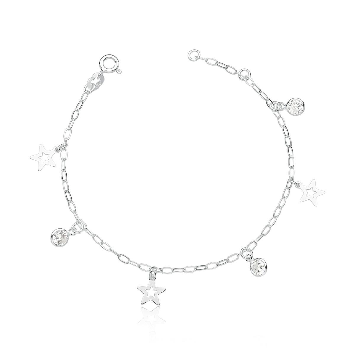 Pulseira Estrelas e Zircônias