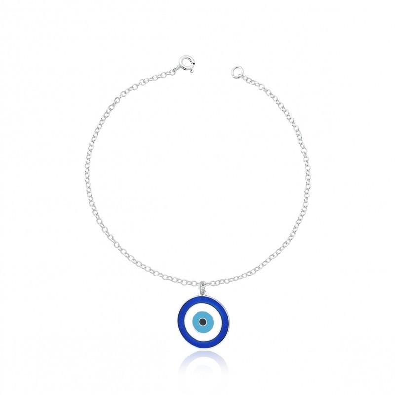 Pulseira Olho Grego Azul 15 MM